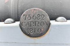 fort henry national historic site cannon inscription - stock photo