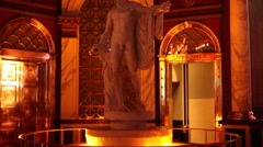 Las Vegas - Statue Outside Of Caesar's Palace Stock Footage