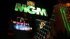 Las Vegas - MGM sign Stock Footage