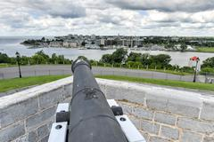 fort henry national historic site cannon - stock photo