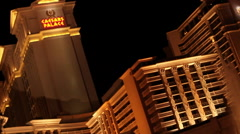 Las Vegas - Pan To Foutain And Ceaser Palace Stock Footage