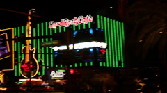 Las Vegas - Hard Rock Cafe Sign - stock footage
