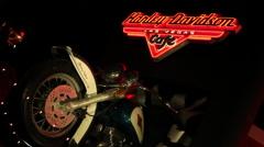 Las Vegas - Harley-Davidson Las Vegas Café Sign And Motorcycle - stock footage