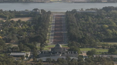 Stock Video Footage of Timelapse aerialview Canberra