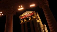 Stock Video Footage of Las Vegas - Caesar's Palace Through Columns