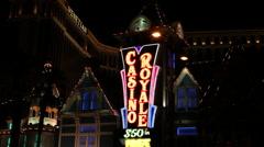 Las Vegas - Casino Royale - HARRAHS - stock footage