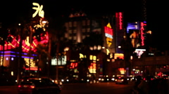 Las Vegas - Flamingo - Ballys Defocused Stock Footage