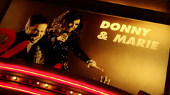 Las Vegas - Donnie And Marie Sign Rotating - stock footage