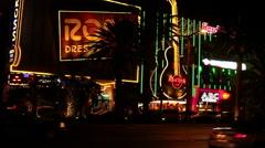 Las Vegas - Traffic Hard Rock Cafe Stock Footage