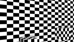Moving cubes on checkered plane made in 3d software - stock footage