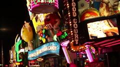 Las Vegas - Vegas Strip - Food Court Stock Footage