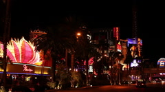 Las Vegas - Strip Flamingo Ballys Stock Footage