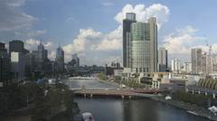 Timelapse Melbourne Yarra River Stock Footage