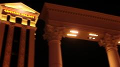 Stock Video Footage of Las Vegas - Caesar's Palace Pan