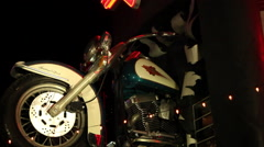 Las Vegas - Pan From Harley-Davidson Sign To Motorcycle Stock Footage