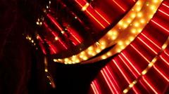 Las Vegas - Flashing Vegas lights Stock Footage