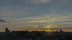 Timelapse Munich Skyline Sunset Stock Footage