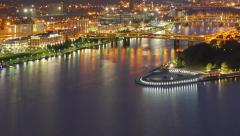 Fishing Boats Congregate at The Point in Pittsburgh - stock footage