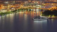 Stock Video Footage of Fishing Boats Congregate at The Point in Pittsburgh