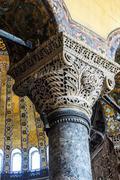 Stock Photo of deeply undercut corinthian columns