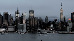 NYC New York City Manhattan Surrealistic HD Stock Footage