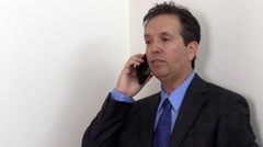 Man talking on Cell Phone, Close-up Stock Footage