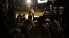 Film Crew In set Stock Footage