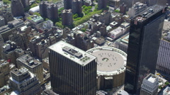 Aerial shot of Madison Square Garden Arkistovideo