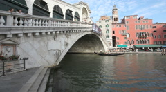 Rialto Bridge Venice Stock Footage