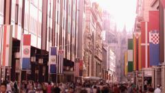 People urban scene Stock Footage