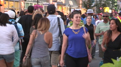 Toronto taste of the Danforth street fetsival and party - stock footage