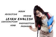 English language materials  Stock Illustration