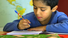 Student Hand Writing at Classroom - stock footage