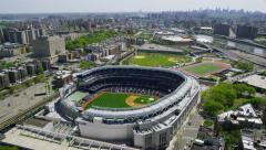 Aerial view of Yankee Stadium in New York City - stock footage