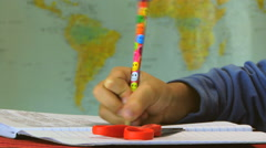 Student Writing at Classroom HD - stock footage