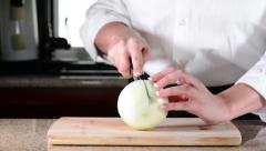 Stock Video Footage of Single Slice Wht Onion 1080.mp4