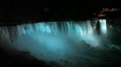 Niagara Falls at night - stock footage