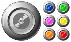 sphere button cd - stock illustration