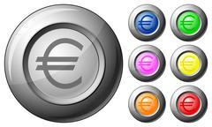 Sphere button euro Stock Illustration