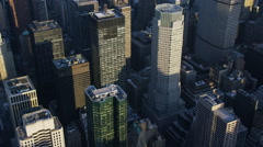 Aerial shot of New York City Stock Footage
