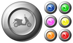 Sphere button scooter Stock Illustration