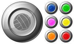 sphere button voleyball - stock illustration