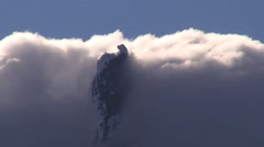 Cloud Cover Up Mountain Stock Footage