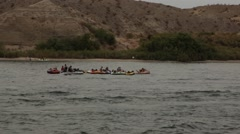 Floating Party on Colorado River Stock Footage