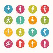 People icon circle series - eps.10 Stock Illustration