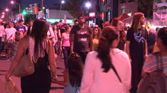 Toronto taste of the Danforth street fetsival and party Stock Footage
