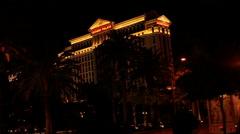 Las Vegas - Caesars Palace and palm trees Stock Footage