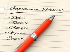3d pen on paper - improvement process Stock Illustration