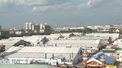 Oktoberfest aerial view Stock Footage