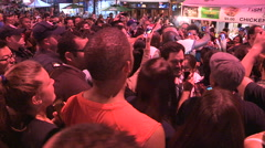 Toronto crowds mob Mayor Rob Ford at Danforth community event Stock Footage